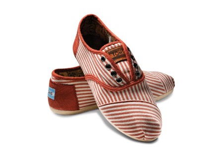 TOMS red striped Cordones