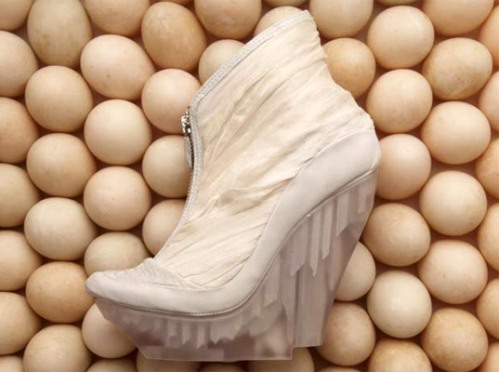 Helen Furber's 'Icica' wedge in white - 2011/12