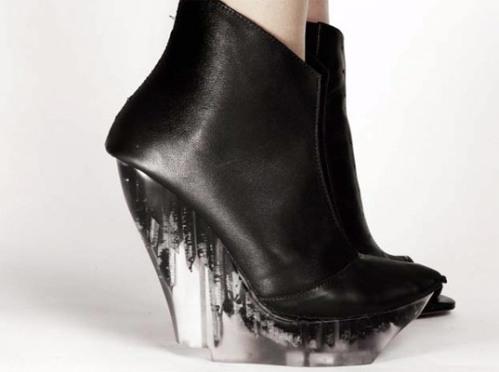 Helen Furber's 'Icica' wedge in black - 2011/12