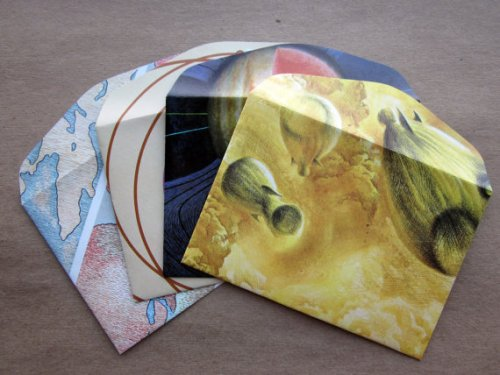 Paragraph Cove's Upcyled Planets envelopes - US$8 for set of 4