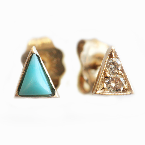 Mociun's MisMatched Triangle Studs - US$320