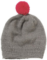 People Tree's grey/pink Bobble Hat - £25