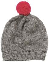 People Tree's grey/pink Bobble Hat - £25
