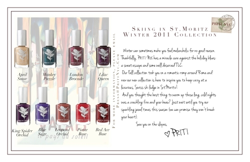 The new 2011 Winter Collection from Priti NYC - US$12.50 each