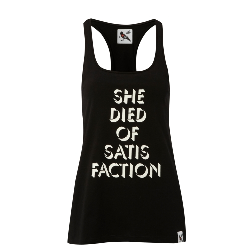 She Died of Satisfaction vest - £50